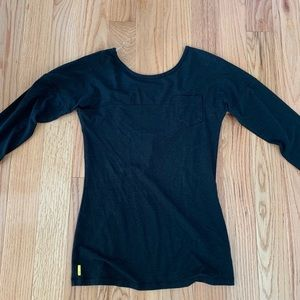 Lolë long sleeve ballet style low back top